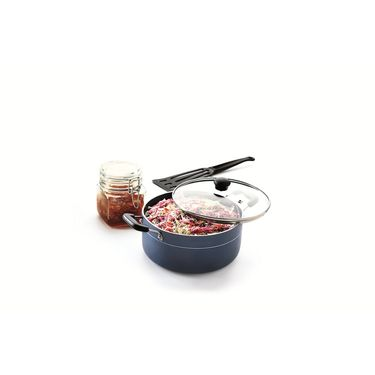 RECON MasterChef Induction Bottom Casserole with Glass Lid 220mm_RMICR220