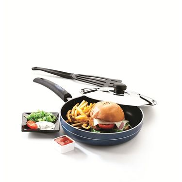 RECON MasterChef Non Stick Fry Pan with Steel Lid 275mm_RMSFP275