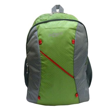 Donex Designer Light weight College Backpack Green Grey_RSC00885