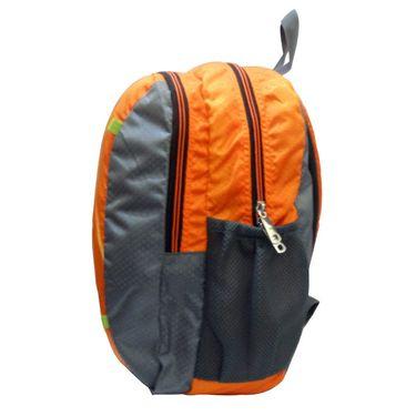 Donex Designer Light weight College Backpack Orange Grey_RSC00889