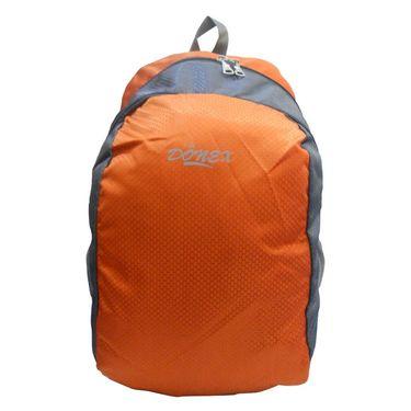 Donex Kool Light weight College Backpack Orange Grey_RSC00891