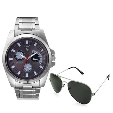 Combo of Rico Sordi Analog Wrist Watch + 1 Aviator Sunglasses_1wsg