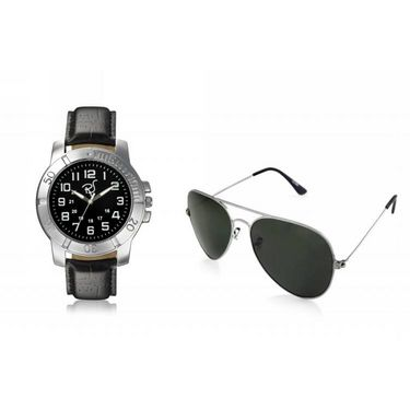 Combo of Rico Sordi Analog Wrist Watch + Sunglasses_RSD32_WSG