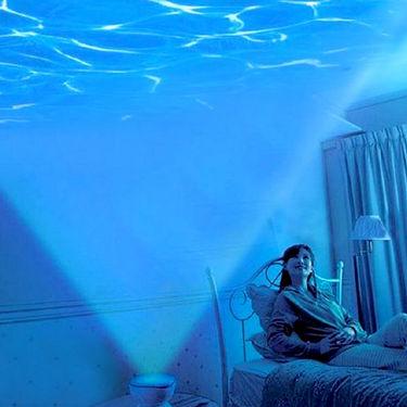Romantic Ocean Waves Projector Night Lamp Speaker