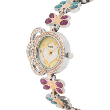 Adine Analog Round Dial Wrist Watch For Women_Rsw02 - White