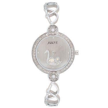 Adine Analog Round Dial Wrist Watch For Women_Rsw11 - White