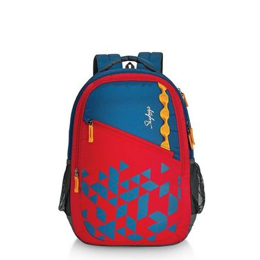 Skybags Red Laptop Backpack_Pixel extra 01 Red