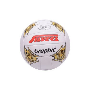 Silver's (Size - 4) Graphic Silvbgraphic Volleyball - White