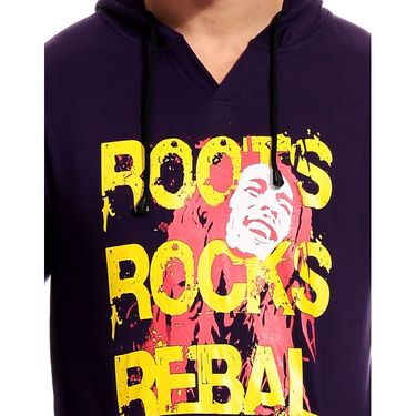 Brohood Cotton Blend Full Sleeves Casual Sweatshirt For Men_skhc33030 - Purple