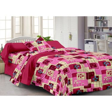 Storyathome 100% Cotton Single Bedsheet with 1 Pillow Cover-SP1217