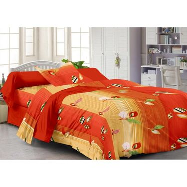 Storyathome 100% Cotton Single Bedsheet with 1 Pillow Cover-SP1218