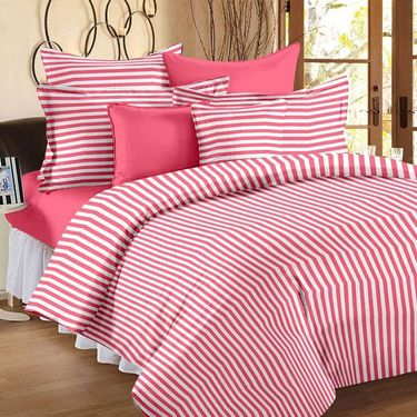Set of 3 Cotton Single Bedsheet With 3 Pillow Cover-SP_1205_1206_1207