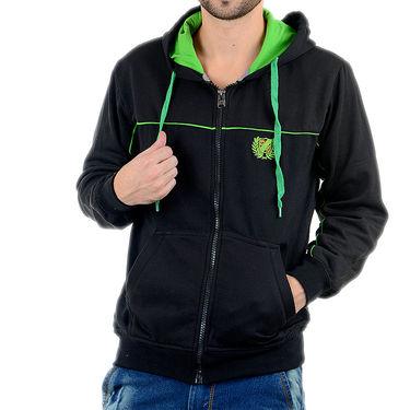 Blended Cotton Full Sleeves Sweatshirt_Swdl30 - Black