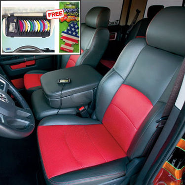 Samsun Car Seat Cover for Hyundai Eon - Red & Black