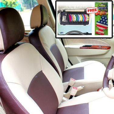 Samsun Car Seat Cover for Tata Indica V2  - Beige & Brown