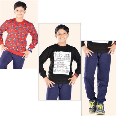 Set of 2 Sweatshirts + 1 Track Pant for Boys