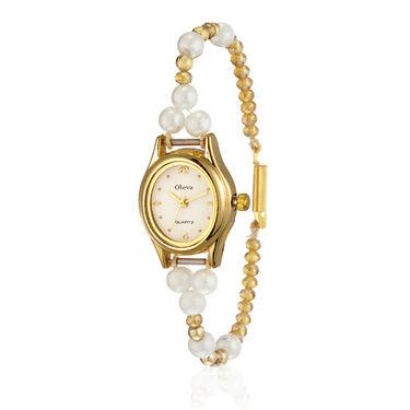 Set of 3 Oleva Pearl Wrist Watch