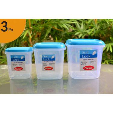 Chetan set of 3 pcs plastic airtight kitchen storage for Kitchen set naaptol