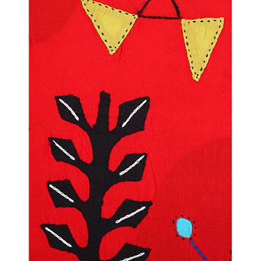 Set of 5 Rajrang Designer Cushion Covers - Red