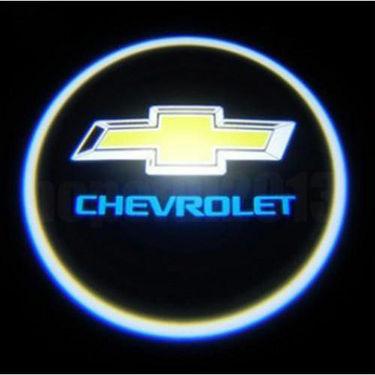 Set of 2 pcs Branded Car Door Welcome Light LED Projection Ghost Shadow Light Laser Chevrolet Logo