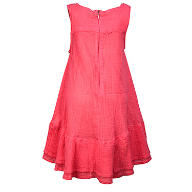 ShopperTree Embroidery Dress for Girl - Pink