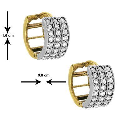 Spargz CZ Diamond Hoop Earrings - White _AIER040