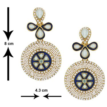Spargz Pearl Designer Dangling Earrings - White _AIER100