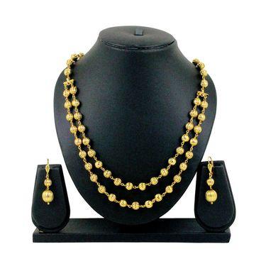 Spargz Gold Balls Necklace Set Mala - Yellow Gold _ MALA022