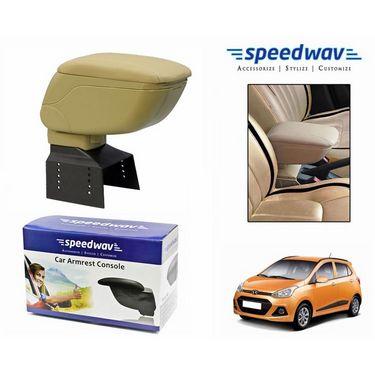 Speedwav Car Armrest Console Beige Color- Hyundai Grand i10