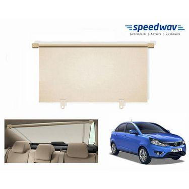 Speedwav Car Rear Window Roller Sunshade 90cm BEIGE- Tata Zest