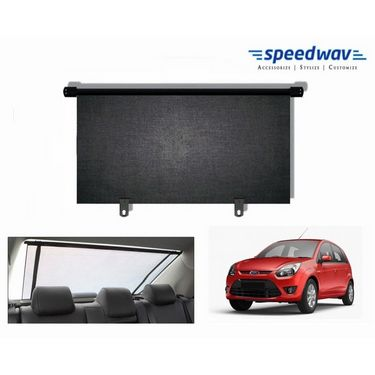 Speedwav Car Rear Window Roller Sunshade 90cm Black- Ford Figo New