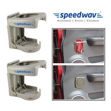 Speedwav Foldable Car Drink / Can / Glass / Bottle Holder(set of 2) - Beige