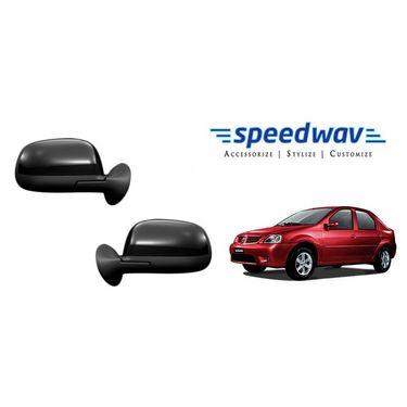Speedwav Car Side Rear View Mirror Assembly SET OF 2 -Mahindra Logan