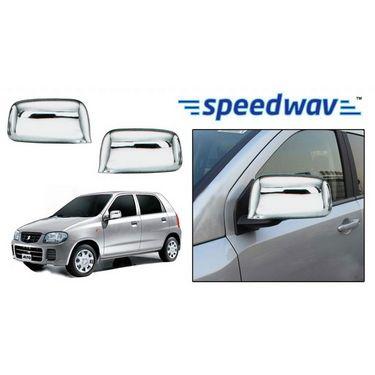 Speedwav Maruti Suzuki Alto (Type 2) Chrome Mirror Covers Set of 2