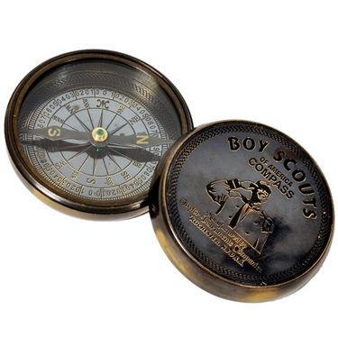 Stylish Boy Scout Pure Brass Direction Compass 226