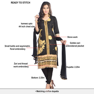 Suhani Partywear Designer Dress Material by Zuri (DDM1) - Pick Any One
