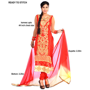 Suhani Set of 3 Partywear Designer Dress Material by Zuri (DDM1)
