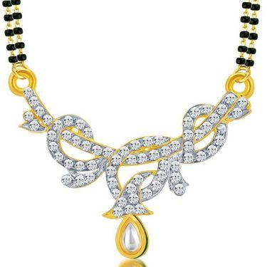 Sukkhi Charming Gold & Rhodium Plated Mangalsutra Pendant - 16015MPADV500