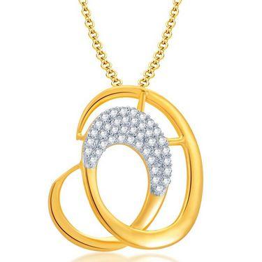 Sukkhi Fascinating Gold & Rhodium Plated Pendant Set - White & Golden - 4065PSCZL1200