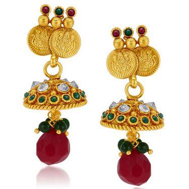 Sukkhi Classy & Designer Gold Plated Necklace Set - Golden - 2152NGLDPL2650