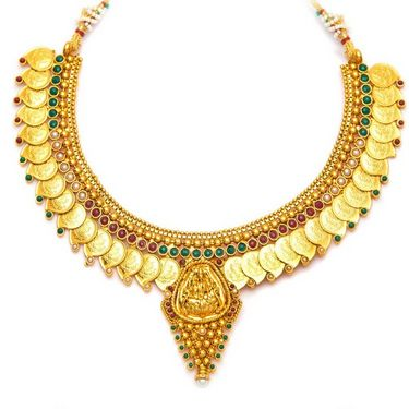 Sukkhi Graceful & Divine Gold Plated Necklace Set - Golden - 2153NGLDPL3050