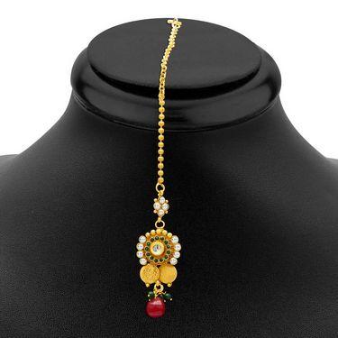 Sukkhi Glimmery & Divine Gold Plated Necklace Set - Golden - 2154NGLDPL8000