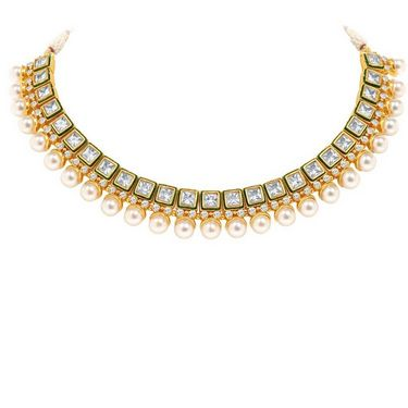 Sukkhi Enchanting & Fascinating Gold Plated Necklace Set - Golden - 2158NADV3250