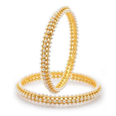 Sukkhi Pleasing Gold Plated Bangles - Golden - 32015BGLDPV850