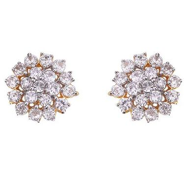 Sukkhi Gold and Rhodium plated CZ Earrings - CZ Earrings106G570