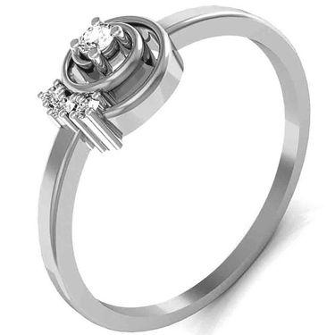Avsar Real Gold & Swarovski Stone Katrina Ring_T025wb