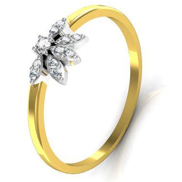 Avsar Real Gold & Swarovski Stone Gujrat Ring_T045yb
