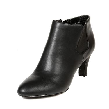 Leather Black Boots For Womens -tb2