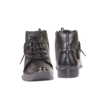 Ten Leather Black Boots -ts187