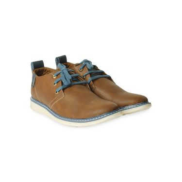 Ten Leather Tan Casuals Shoes -ts172